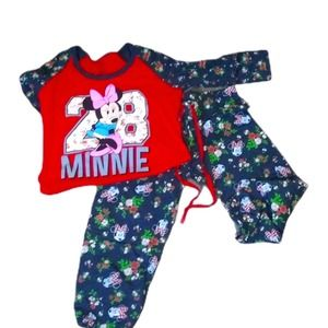 MINNIE MOUSE PAJAMA OUTFIT  GIRLS 3/5